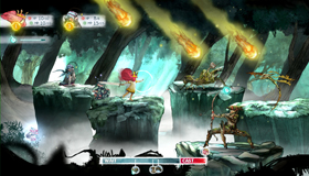 A battle in Child of Light