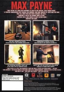 Max Payne back of game box