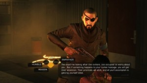 Deus Ex Human Revolution Dialog Challenge Example