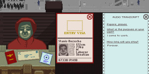 Papers, Please Audio Log example