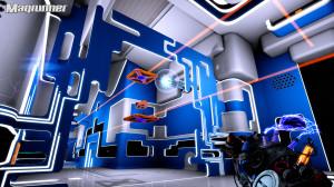 Magrunner 2 platforms suspending cubes